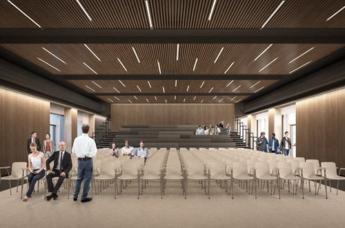 Auditorium på Universitetshospital Køge